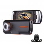 A1 Car DVR Camera 2.7 inch LCD Full HD 1080P 2 Cameras 170 Degree Wide Angle Viewing, Support Night Vision / Motion Detection /