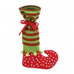 Dot Pattern Sock Christmas Dinner Table Decoration Candy Bag