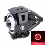 U7 10W 1000LM CREE LED Life Waterproof Headlamp Light with Angel Eyes Light for Motorcycle / SUV, DC 12V(Red Light)