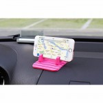 XIAOLIN XL-4006 Car Shockproof Anti-slip Mount Holder For Most Tablet And Phone(Magenta)