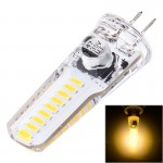 G4 4W 200LM 18 LED SMD 4014 Silicone Corn Light Bulb, DC 12V(Warm White)