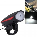 125 / 250LM 3 Modes USB Rechargeable LED Bright Light with Horn & Handlebar Mount(Red)