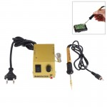 AC 220V 1-18W Mini Thermostatic Soldering Station Electric Iron, EU Plug (Gold or Silver Random Color Delivery)
