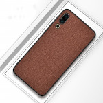Shockproof Cloth Texture PC+ TPU Protective Case for Meizu 16s (Brown)