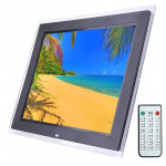 15.0 inch Digital Picture Frame with Remote Control Support SD / MMC / MS Card and USB , Black (1500)(Black)