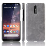 Shockproof Litchi Texture PC + PU Case For Nokia 3.2(Gray)