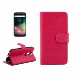 For Motorola Moto G (4rd gen) Crazy Horse Texture Horizontal Flip Magnetic Snap Leather Case with Adjustable Holder & Card Slots
