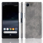 Shockproof Litchi Texture PC + PU Case For Sony Xperia ACE SO-02L(Gray)
