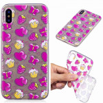 Painted TPU Protective Case For Galaxy S10 Plus(Strawberry Cake Pattern)