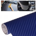 Car Decorative 3D Carbon Fiber PVC Sticker, Size: 152cm x 50cm(Blue)