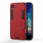 Shockproof PC + TPU Case for Huawei Honor 8S, with Holder(Red)