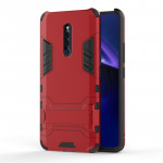 Shockproof PC + TPU Case for VIVO X27 Pro , with Holder(Red)