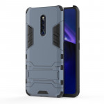 Shockproof PC + TPU Case for VIVO X27 Pro , with Holder(Navy Blue)