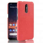 Shockproof Crocodile Texture PC + PU Case For Nokia 3.2(Red)