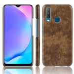 Shockproof Litchi Texture PC + PU Case For vivo Y17 / Y3(Brown)