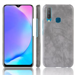 Shockproof Litchi Texture PC + PU Case For vivo Y17 / Y3(Gray)