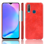 Shockproof Litchi Texture PC + PU Case For vivo Y17 / Y3(Red)