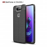 Litchi Texture TPU Shockproof Case for Zenfone 6(ZS630KL)(Black)