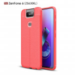 Litchi Texture TPU Shockproof Case for Zenfone 6(ZS630KL)(Red)