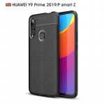 Litchi Texture TPU Shockproof Case for Huawei Y9 Prime 2019 / P smart Z(Black)