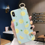 Lemon Pattern Wrist Strap TPU Case For Galaxy S9 Plus(Lemon Pattern model B)