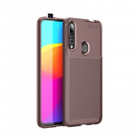 Beetle Series Carbon Fiber Texture Shockproof TPU Case for Huawei Y9Prime 2019 / P smart Z(Brown)