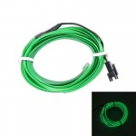 2M Cold Light Flexible LED Strip Light For Car Decoration(Green Light)