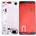 iPartsBuy for Microsoft Lumia 650 Front Housing LCD Frame Bezel Plate(White)
