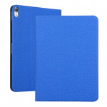 Fabric Texture Horizontal Solid Leather Case for iPad Pro 11 inch, with Holder & Sleep / Wake-up Function(Blue)