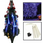 LED 8 Light Bar Meteor Shower Light-emitting Lamp for Christmas - Blue Light