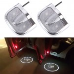 2 PCS LED Car Door Welcome Logo Car Brand Shadow Light Laser Projector Lamp for NISSAN(Silver)