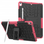 Tire Texture TPU+PC Shockproof Case for iPad Air 2019 / Pro 10.5 inch, with Holder & Pen Slot(Pink)