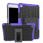 Tire Texture TPU+PC Shockproof Case for iPad Mini 2019, with Holder (Purple)