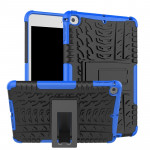 Tire Texture TPU+PC Shockproof Case for iPad Mini 2019, with Holder (Blue)