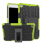 Tire Texture TPU+PC Shockproof Case for iPad Mini 2019, with Holder (Green)