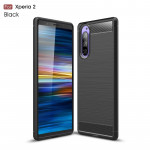 Brushed Texture Carbon Fiber TPU Case for Sony Xperia 2(Black)