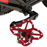 Single Road Bike Universal Clipless to Pedals Platform Adapter for Bike MTB Shoes, Size: Large(Red)