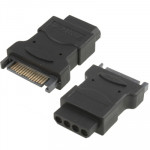SATA 15 Pin Male to 4 Pin Female Aapter