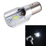Phare de Moto BA20D 5W 400lm 6000K COB LED Lampe de de moto, DC 9-80V lumière blanche - Wewoo