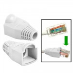 100 pcs Network Cable Boots Cap Cover for RJ45, White