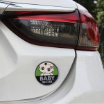 Baby in Car Lovely Smile Face Adoreable Car Free Sticker(Green)