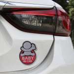 Baby in Car Happy Drinking Milk Infant Adoreable Style Car Free Sticker(Red)