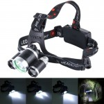 LED Headlamp High Power Bright Headlight 3 CREE T6 with Charger for Hiking Camping Riding Fishing Hunting(NO Including Batteries