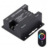 SX-030RF RGB Touch Series Wireless LED Remote Controller, DC 12-24V(Black)