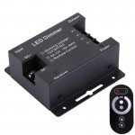 SX-032RF Single Channel Touch Series Wireless LED Remote Controller, DC 12-24V(Black)