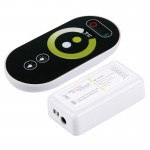 S102 Double canaux 6 touches RF sans fil LED Full Touch Controller avec support mural, DC 12-24V - Wewoo