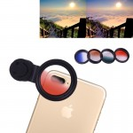 DS-2017001 5 in 1 Universal Gradient Mirror Lens Kit (Gradient Green + Gradient Blue + Gradient Orange + Gradient Red) with Lens