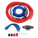 YH-10GA 1200W 10GA Car Copper Clad Aluminum Power Subwoofer Amplifier Audio Wire Cable Kit with 60Amp Fuse Holder