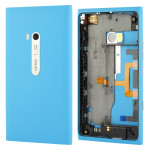 Housing Battery Back Cover With Side Button Flex Cable for Nokia Lumia 900(Blue)