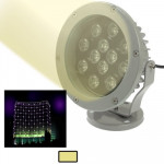 12W / 960LM High Quality Die-cast Aluminum Material Warm White Light LED Floodlight Lamp